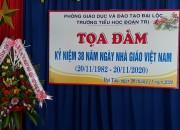 Tọa đàm kỷ niệm 38 năm ngày Nhà giáo Việt Nam 20/11/1982 – 20/11/2020.