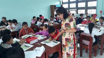Hình ảnh giáo viên tham gia hội thi giáo viên giỏi năm học 2020 – 2021